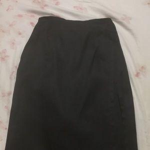 Black skirt with black overlay